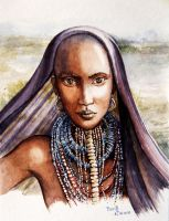 Girl from a tribe by vasoiko