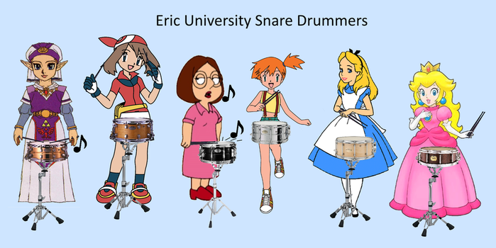 Eric University Snare Drummers by copper70