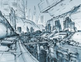 future buildings sketch by orangehexagon