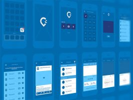 Wireframe fo an iPhone app by goodvivek