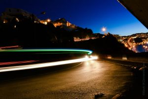 Taxi Light Trails by MaxK-W