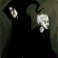 Snape and draco by LauraMossop