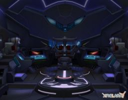 Metroid Other M - Ship inside by deexie