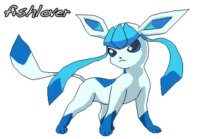 Shiny Glaceon Pixel by Fishlover