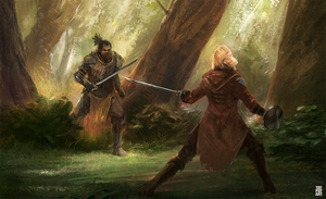 Fencer in the Forest by Taylor-payton