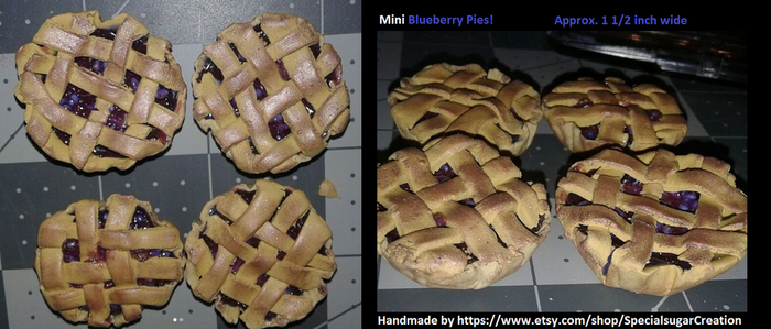 Minature Blueberry pies by Ittermat