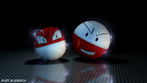 Voltorb and Elektrode 3D by bogeymankurt