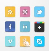 Flippa Social Icon Set (PSD) by socialbeaker