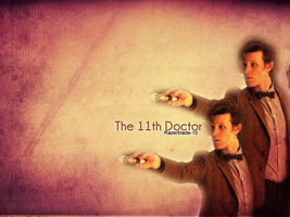 The 11th Doctor Wallpaper by razerblade-10