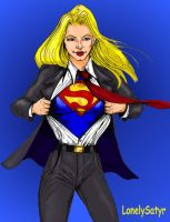 Supergirl by Lonelysatyr