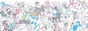 Flipnote Hatena Wolves - Family Snapshot by PeaceWolfLegacy