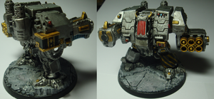 Iron warrior dreadnought by Littlecutter