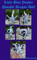 Little Blue Yonder Western dragon Mini Doll by Eviecats