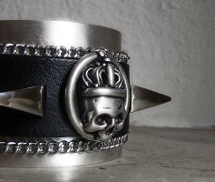 Black Leather Cuff by Aranwen