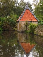 Little Castle House with Waterscape 1 by SpellpearlArts