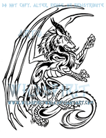 Dragon Wolf Tattoo Design by WildSpiritWolf