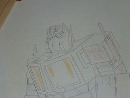 Transformers Original G1 Prime Production Drawing by Nitrofires-Revenge