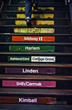 Subway Stairs by Phoenix-Pyre
