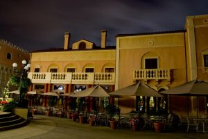 Epcot Italy at Night 5 by AreteStock