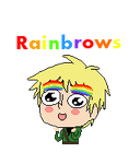 Pixel Rainbrows by lcayoh
