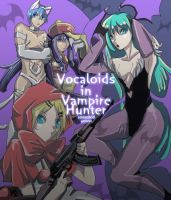 Vocaloid in Darkstalkers by yamcat
