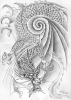 Dragon Tattoo Design - final by Tatsu87