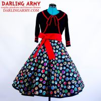 Pokemon Pokeballs Tea Length Pinup Skirt by DarlingArmy