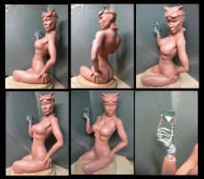 Catwoman  1/4 scale Bust.WIP by Leebea
