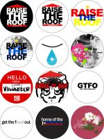Raise the Roof Button Designs by miisunderstood