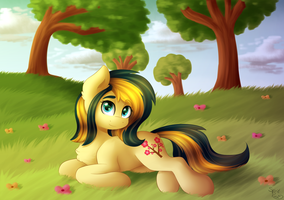 Flowers [Commission] by littleSpiritRose