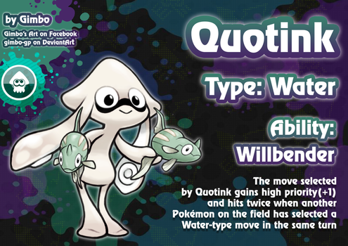 Quotink (Splatoon Inkling fakemon) by gimbo-gp