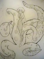 Tenticle girl by ericdbz