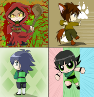 PPGs chibi four ever by BiPinkBunny