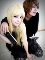 Misa and Light Test Shot 2 by DEATHNOTE---L