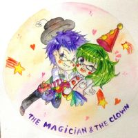 The macgician and the clown by quynhanhnguyendac