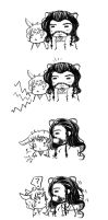 Bagginshield:: Rabbit!Bilbo and Hamster!Thorin by caylren
