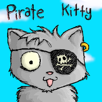 Pirate Kitty by LaughingSquid