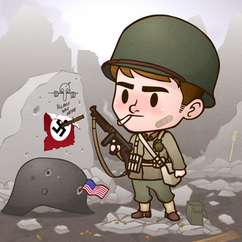 WWII Soldier Jimmy Chibi~ by liquidcrow