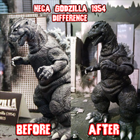 Neca Godzilla 1954 Difference by KingAsylus91