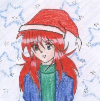christmas kurama - colored by kamiya16