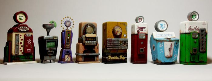 COD Zombies Miniatures - WAW + BLOPS Perk Machines by faustdavenport
