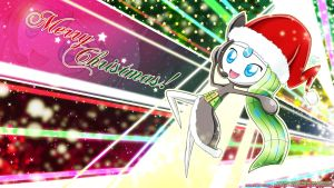 Meloetta Christmas Wallpaper