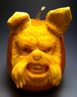 Dog Pumpkin by AlfredParedes