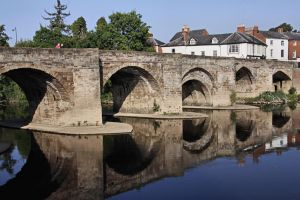 Bridge over the river Wye - Hereford by UdoChristmann