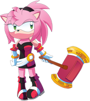 Freedom Fighter Amy Rose ( Mobius X years later) by Gist-the-fox