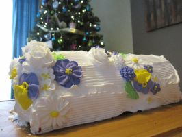 Christmas Spring Log by maytel