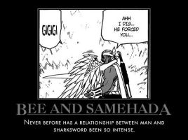 Bee and Samehada by spaceninja309