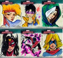 Marvel Sketch cards 1 by Julianlytle