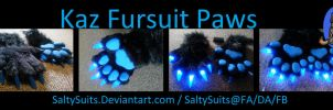 Kaz Fursuit Hand Paws Commission by SaltyPuppy