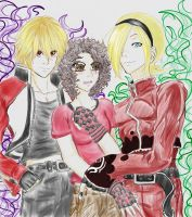 Rocky-kun, Me and Ash Crimson by Usagi-Moni